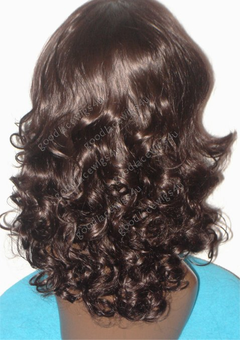 Beautiful Brown Curly Lace Front Wig