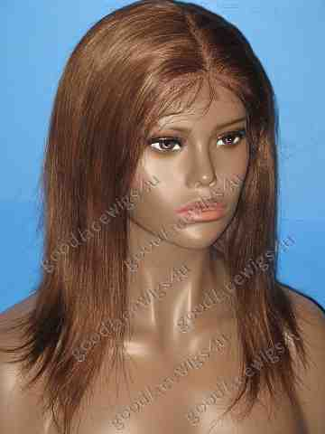 Silky Straight Texture Lace Front Wig with 5 Inch parting anywhere in front lace area - Color #4/27/30 Mix