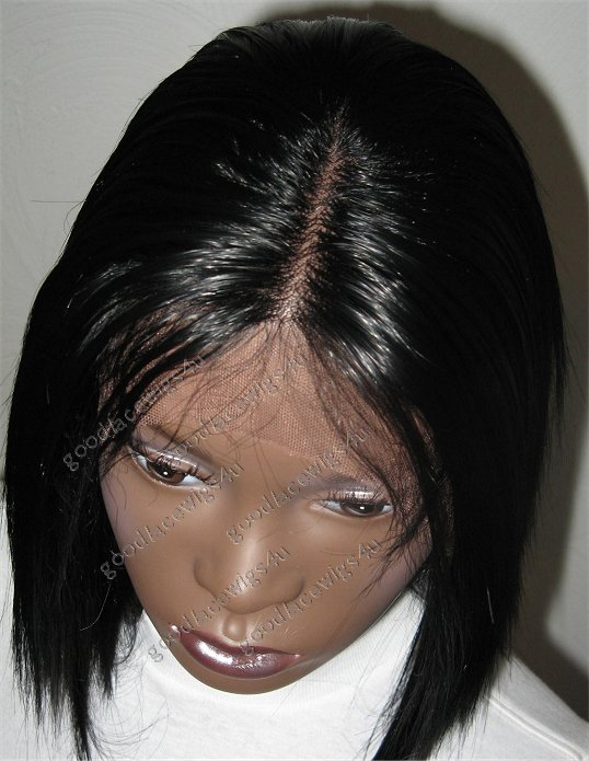 Silky Straight Lace Front Wig With 3 Inch Parting and Soft Lace
