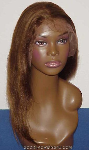 Yaki Straight Lace Front Wig Color #4 $185
