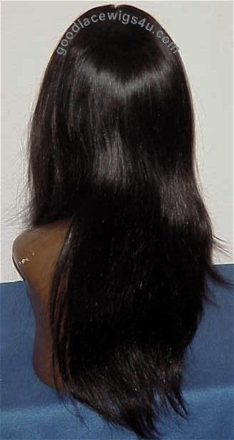 Silky Straight Lace Front Wig Color #1B $185