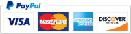 Paypal, Visa, Mastercard and Discover Cards Accepted