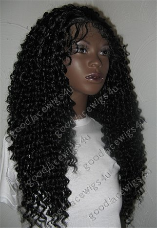 Stunning Curly Lace Front Wig with Heavy Density and Soft Swiss Lace Cap.  PAM-CHD 3d1928f9931e